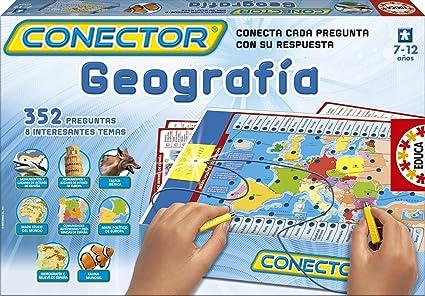 Educa Borrás- Juego Conector geografía, 38.4 x 25.7 x 4.8 (15325 ...