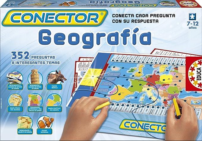 Educa Borrás- Juego Conector geografía, 38.4 x 25.7 x 4.8 (15325): Amazon.es: Juguetes y juegos