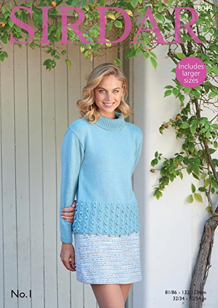 4583f857721a Sirdar 8049 Knitting Pattern Womens Roll Neck Sweater in Sirdar No. 1 DK   Amazon.co.uk  Kitchen   Home