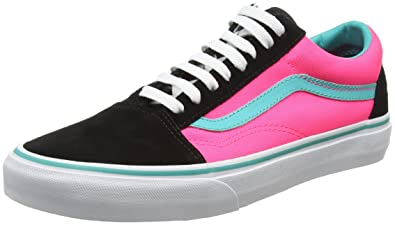 Vans Men s Old Skool Brite Ankle-high Canvas Skateboarding Shoe (Brite)  Black  5feb51e75