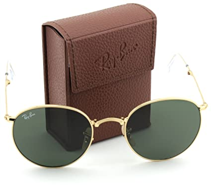 b293d8e89 Amazon.com: Ray-Ban RB3532 Round Folding Flash Series Unisex Sunglasses  (Gold Frame/Green G-15 Lens 001, 50): Clothing