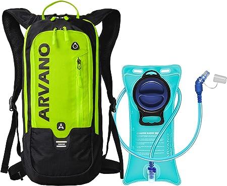 Arvano Hydration Backpacks, 6L Mini Hydration Pack with 2L Water Bladder  Lightweight Cycling Bike Backpack Ski Rucksack Biking Bag, Breathable mtb  Backpack for Running Skiing fits man women (Green): Amazon.co.uk: Sports &