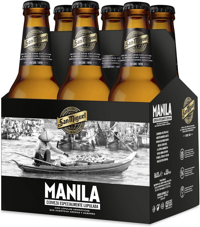 San Miguel Manila Cerveza Dorada Indian Pale Lager, 5.8% Volumen ...