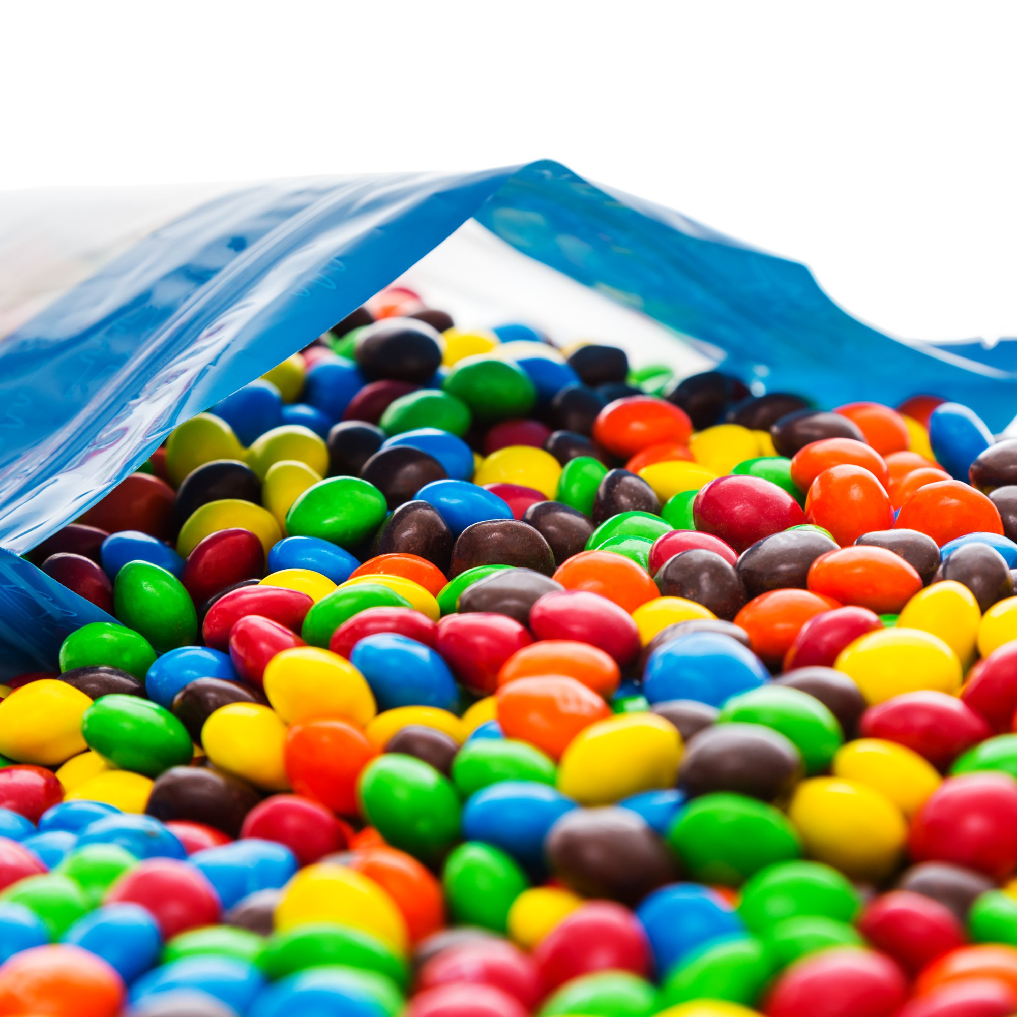 Bulk M&M's Plain Milk Chocolate in a Bomber® Bag - 5 lbs - Fresh, Tasty Treats - Resealable Bag by Fast Fresh Nuts (Image #2)