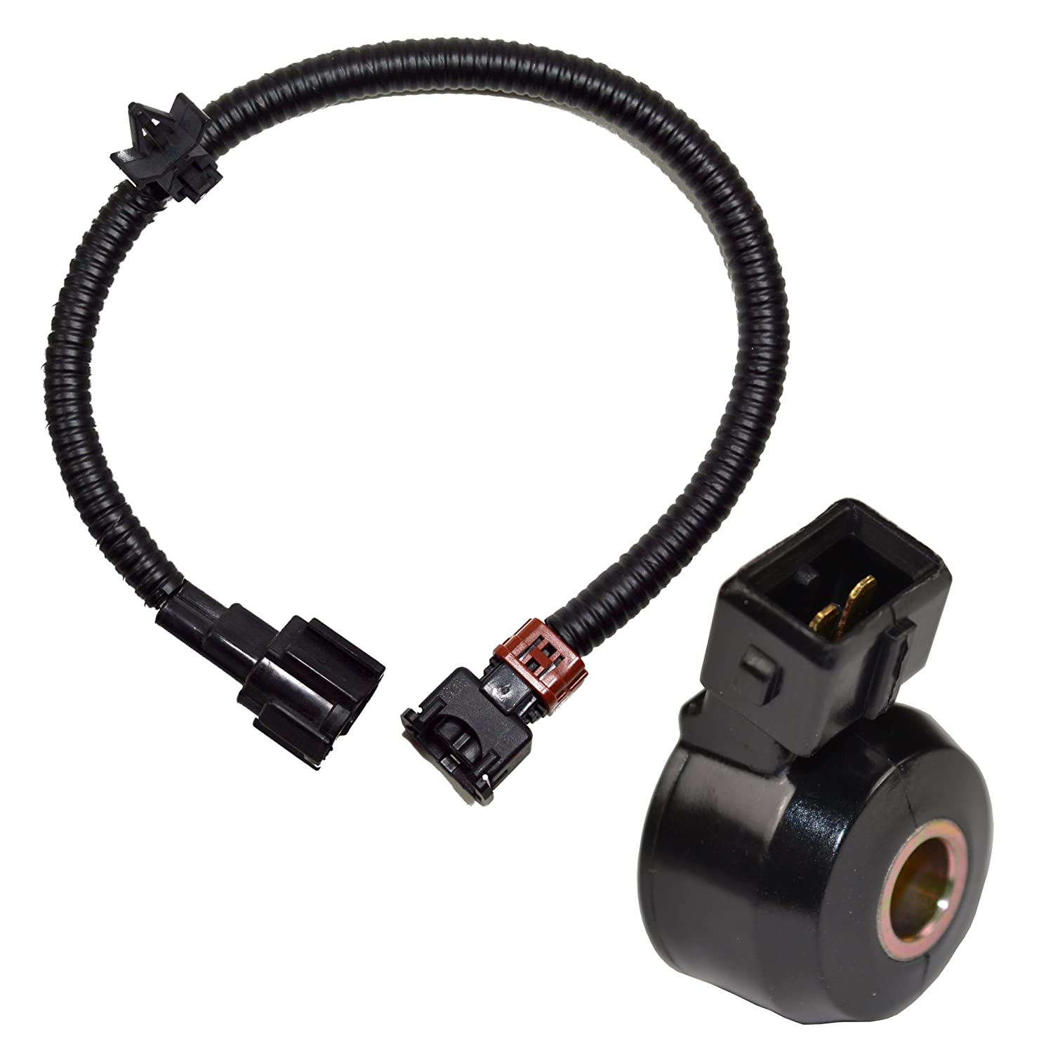 81de5C3E5QL._SL1500_ amazon com hqrp knock sensor w wiring harness for nissan 2001 nissan xterra knock sensor wiring harness at reclaimingppi.co