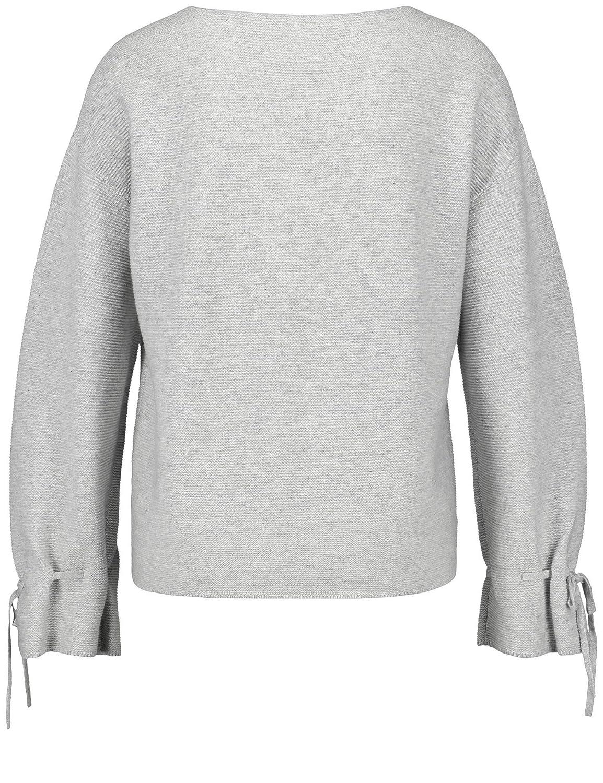 TAIFUN Pullover 34 Arm Rundhals Pullover mit Schößchen