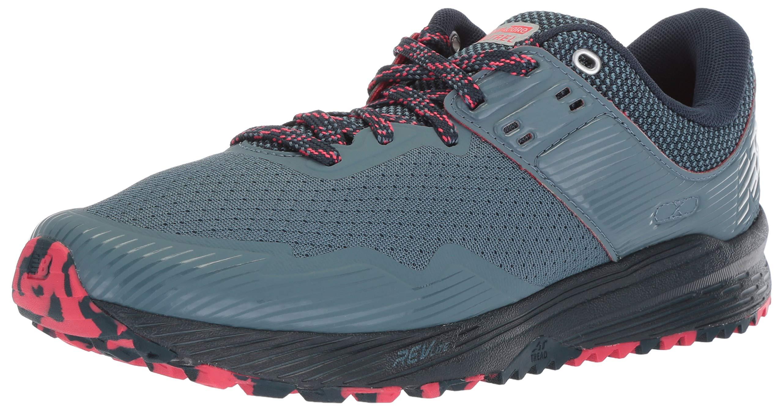 New Balance Women's Nitrel V2 FuelCore Trail Running Shoe Light Petrol/Galaxy/Blossom 5 B US