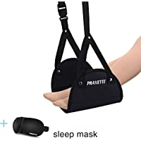 Pravette Ergonomic Travel Foot Rest w/ Pravette Sleep Mask