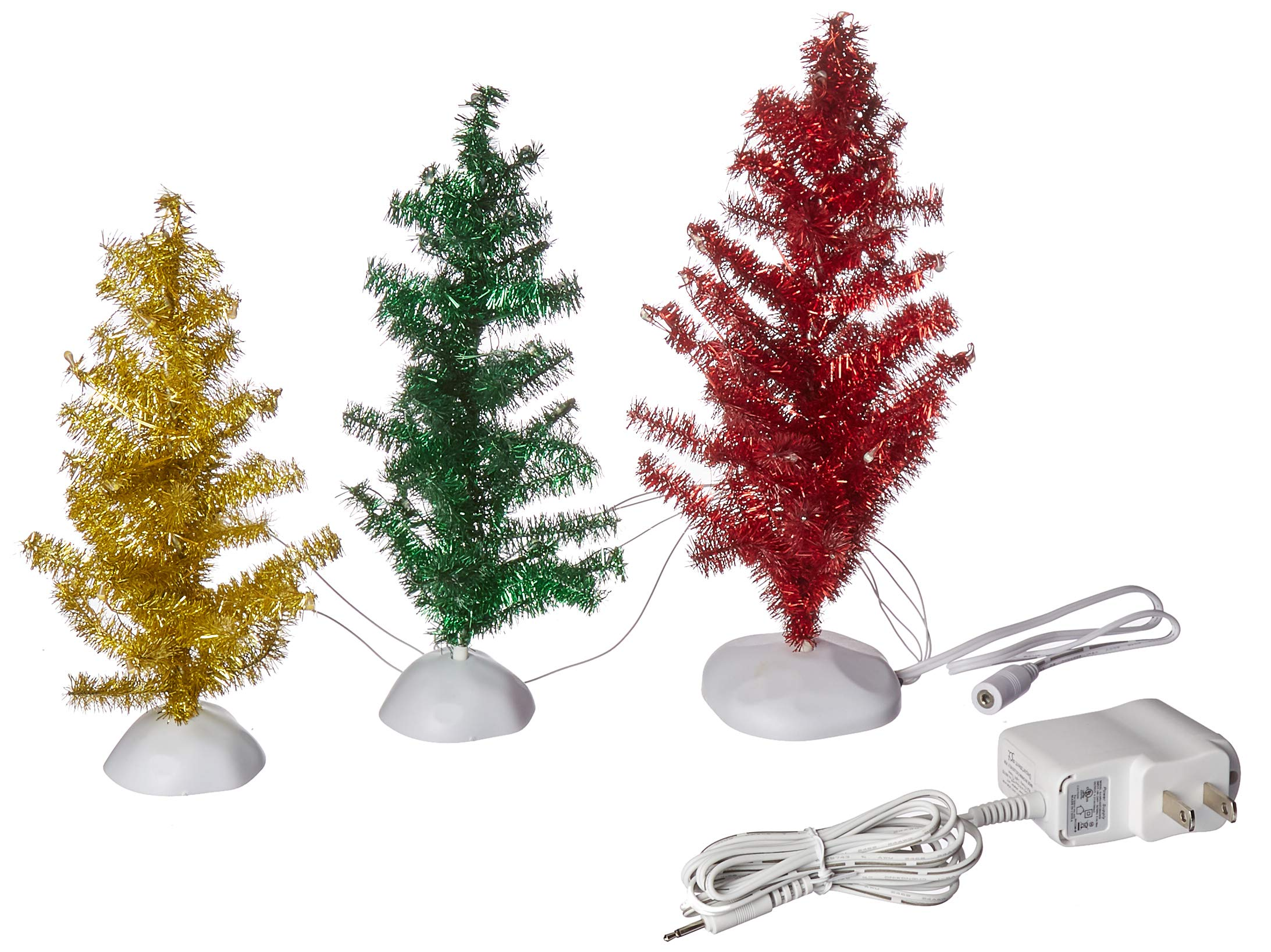 Department 56 Collections Magical Tinsel Trees Figurines (Set of 3) Village Accessory, Multicolor by Department 56