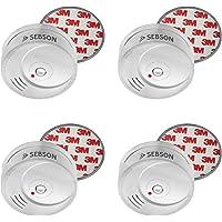 SEBSON 4X Detector de Humo NF Incluye Soporte