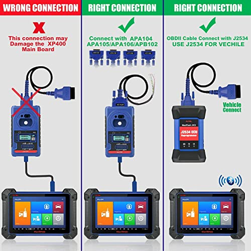 The Autel IM608's devices have a maximum range of about 70 meters or 210 feet.