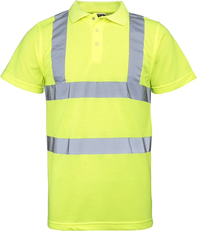 RTY Enhanced Visibility Mens Short Sleeved Polo Shirt 4 Colours//Size Sml-5XL