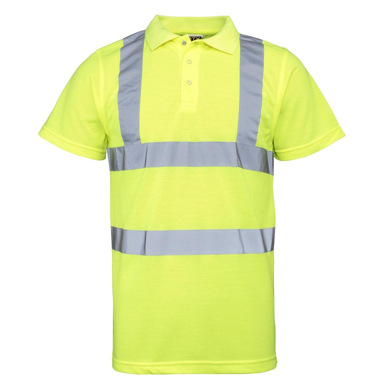 RTY High Visibility - Polo/camisa de seguridad de alta visibilidad ...