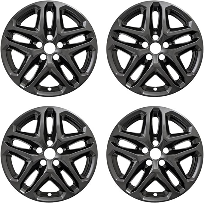 for 2016-2017 Ford Fusion SE Set of 4 Upgrade Your Auto 17 Gloss Black Wheel Skins 10119