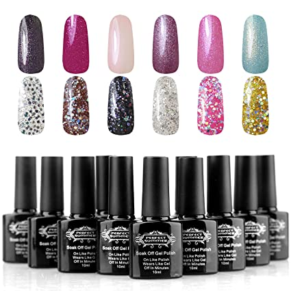 Perfect Summer 10 ml 12 colores mezclados gel de uñas UV LED Starter Kits de manicura