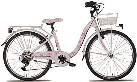 Montana 24 Zoll Ragazze Bicicletta Bloomy 6 Gang Bianco Amazonit