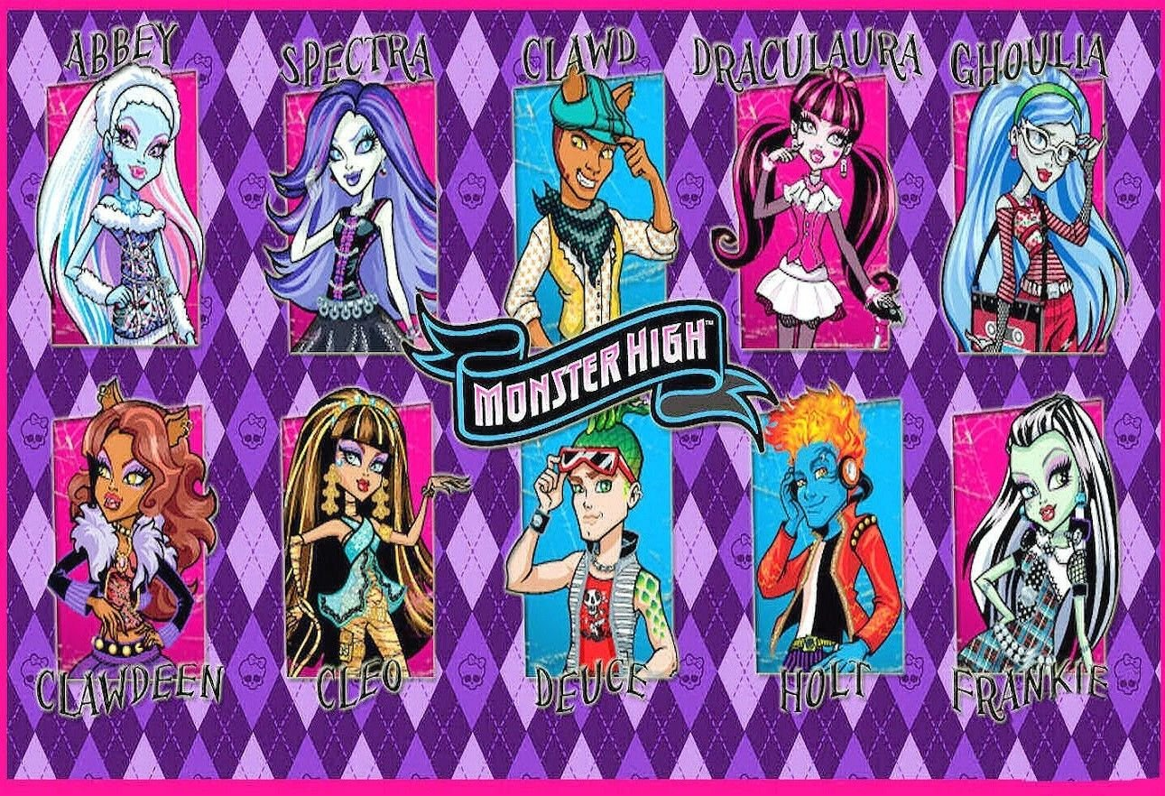 SDore Monster High School Friends Edible Birthday 1/2 Sheet Frosting Cake Topper Icing