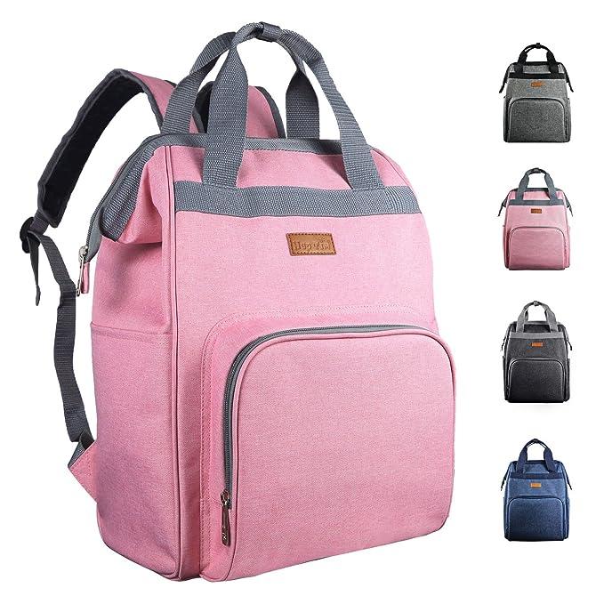 Mochila con bolsa de pañales, mochila de viaje multifunción, mochila de maternidad para bebés, bolsas de cambio con bolsas de cochecito con ...