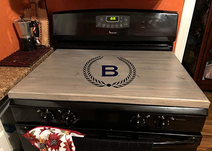 Amazon Com Latinos R Us Stove Top Cover Custom Wooden Stove Cover Personalized Dark Walnut Automotive