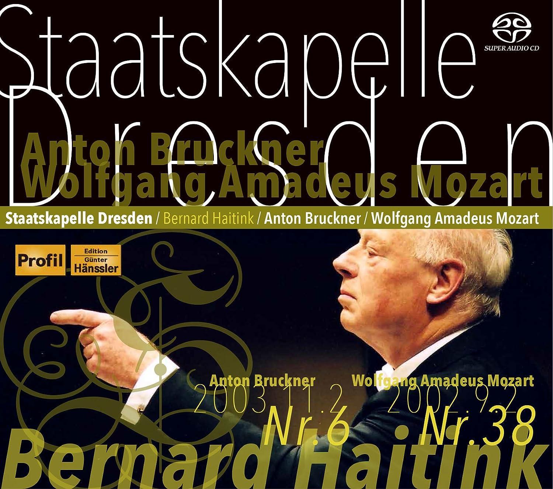 ブルックナー : 交響曲 第6番 | モーツァルト : 交響曲 第38番 「プラハ」 (Anton Bruckner : Sinfonie Nr.6 | Wolfgang Amadeus Mozart : Sinfonie Nr.38 / Staatskapelle Dresden | Bernard Haitink) [SACDシングルレイヤー] [日本語帯&解説付]                                                                                                                                                                                                                                                    <span class=