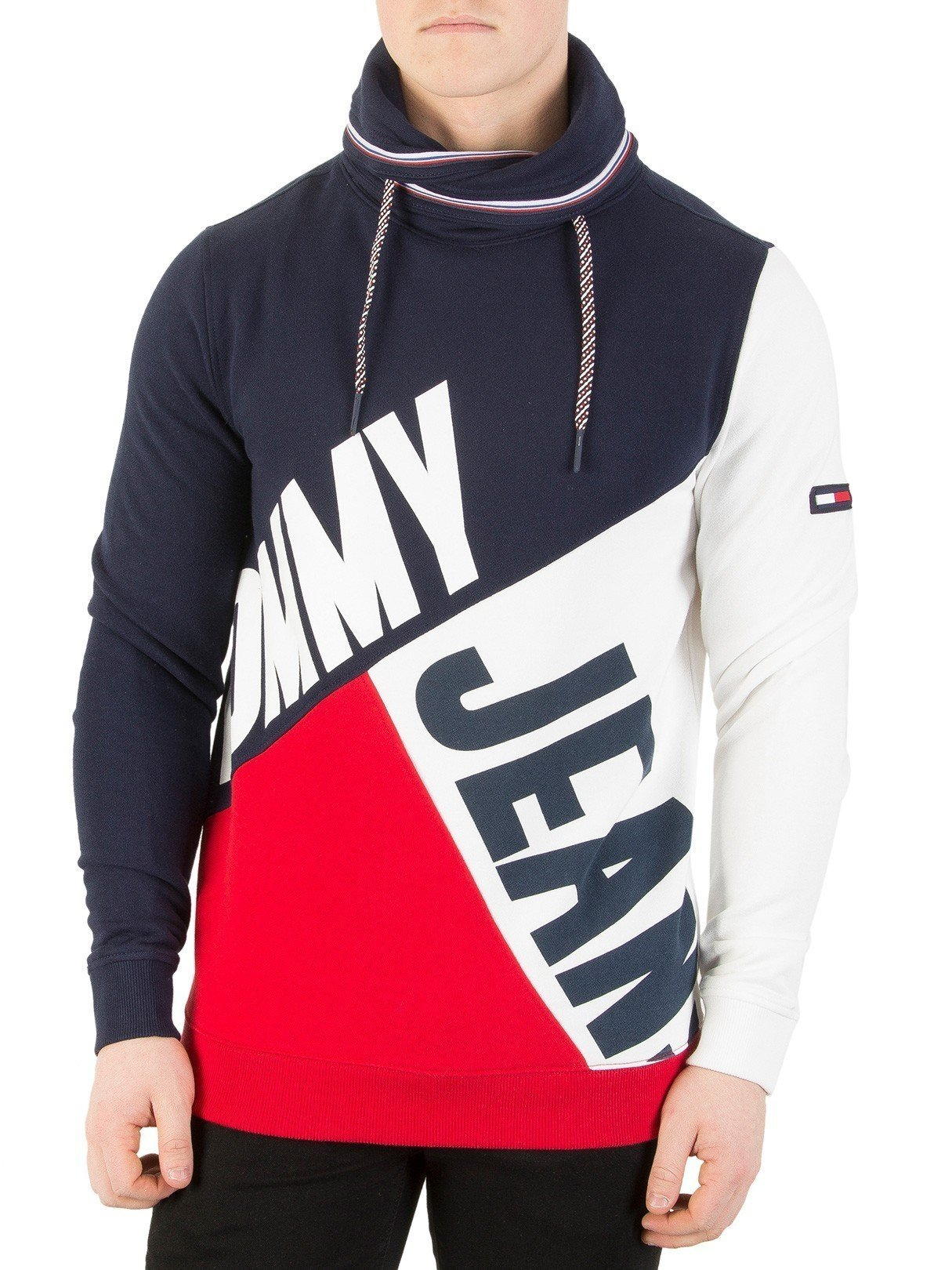 Tommy Jeans Men's Colour Block Sweatshirt, Multicoloured, Medium