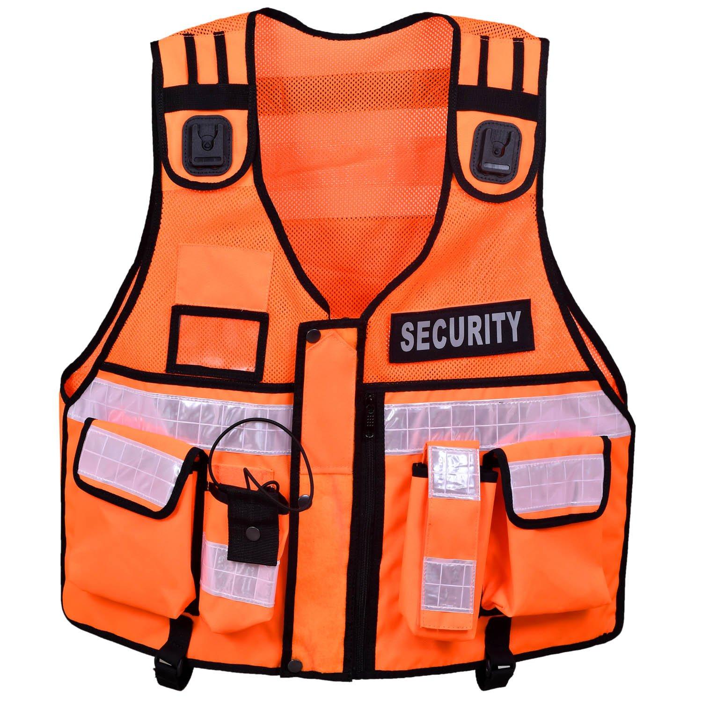 Hi Viz taktische Weste orange Hundef/ührer CCTV