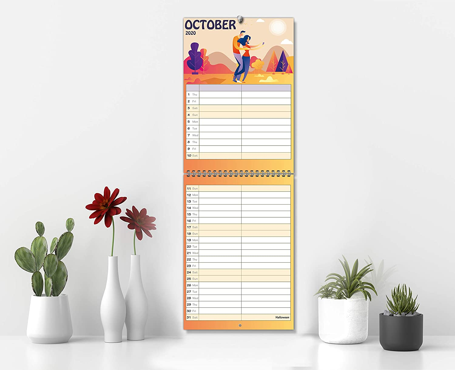 15 Months: Oct/'20 | Month-to-View Layout with Two Columns Dec/'21. | His /& Hers Planner Calendar 2021 Wall Calendar 2021 Couple /& Small Family Edition by Dream Planners