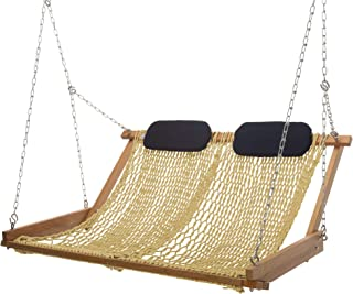 product image for Nags Head Hammocks Original Cumaru Rope Porch Swing, Tan DuraCord