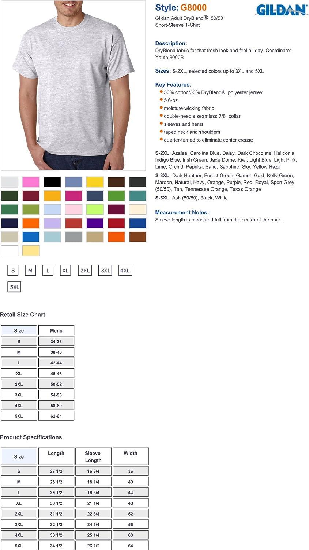 Gildan adult dryblend sports t shirt pack of 5 amazon nvjuhfo Images