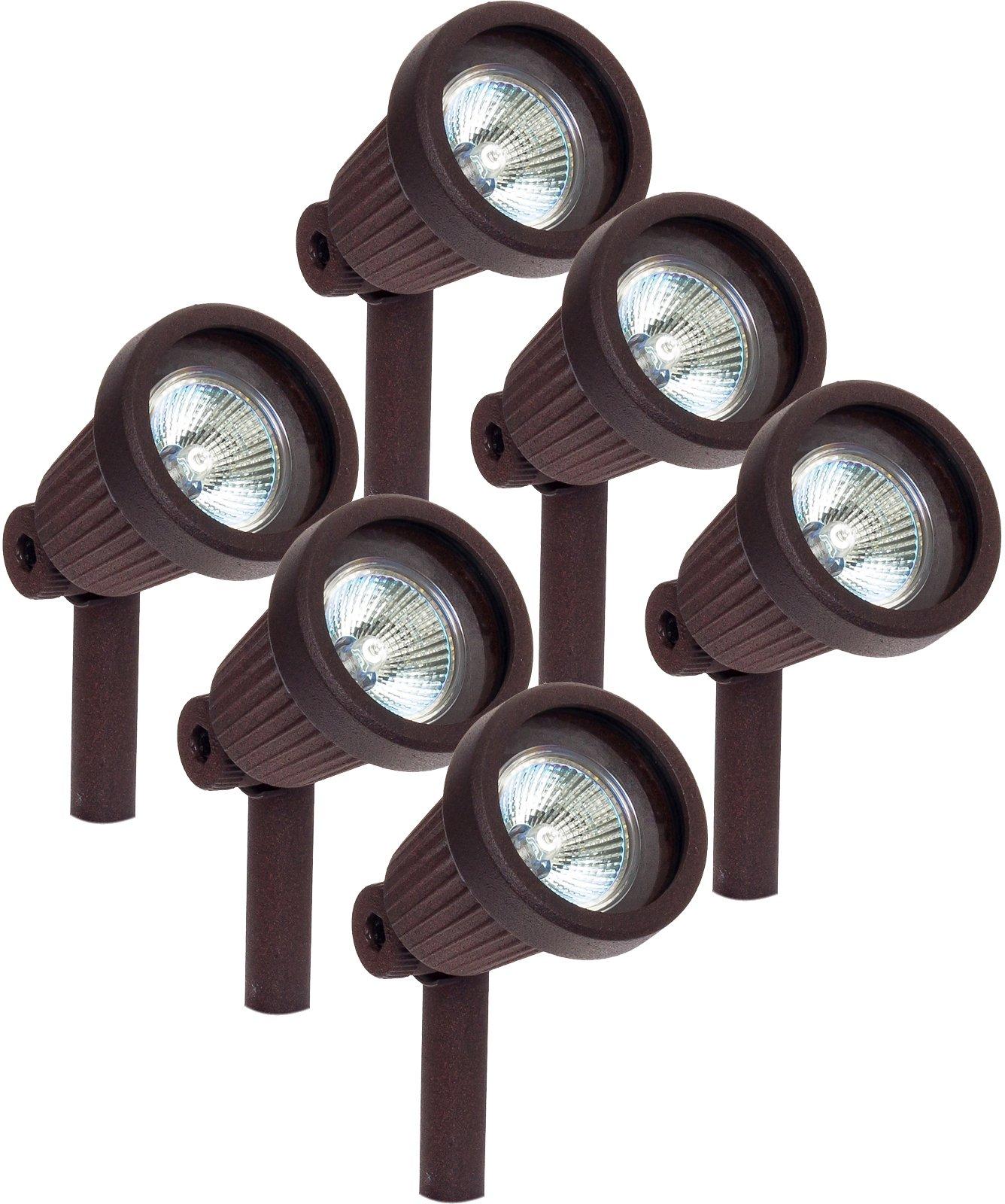 Paradise GL22724 Low Voltage Cast Aluminum 20W Spotlight (Bronze, 6 Pack)