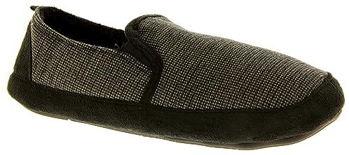 Dunlop Hombre Zapatillas de Estar por Casa Forro Polar Cálido: Amazon.es: Zapatos y complementos