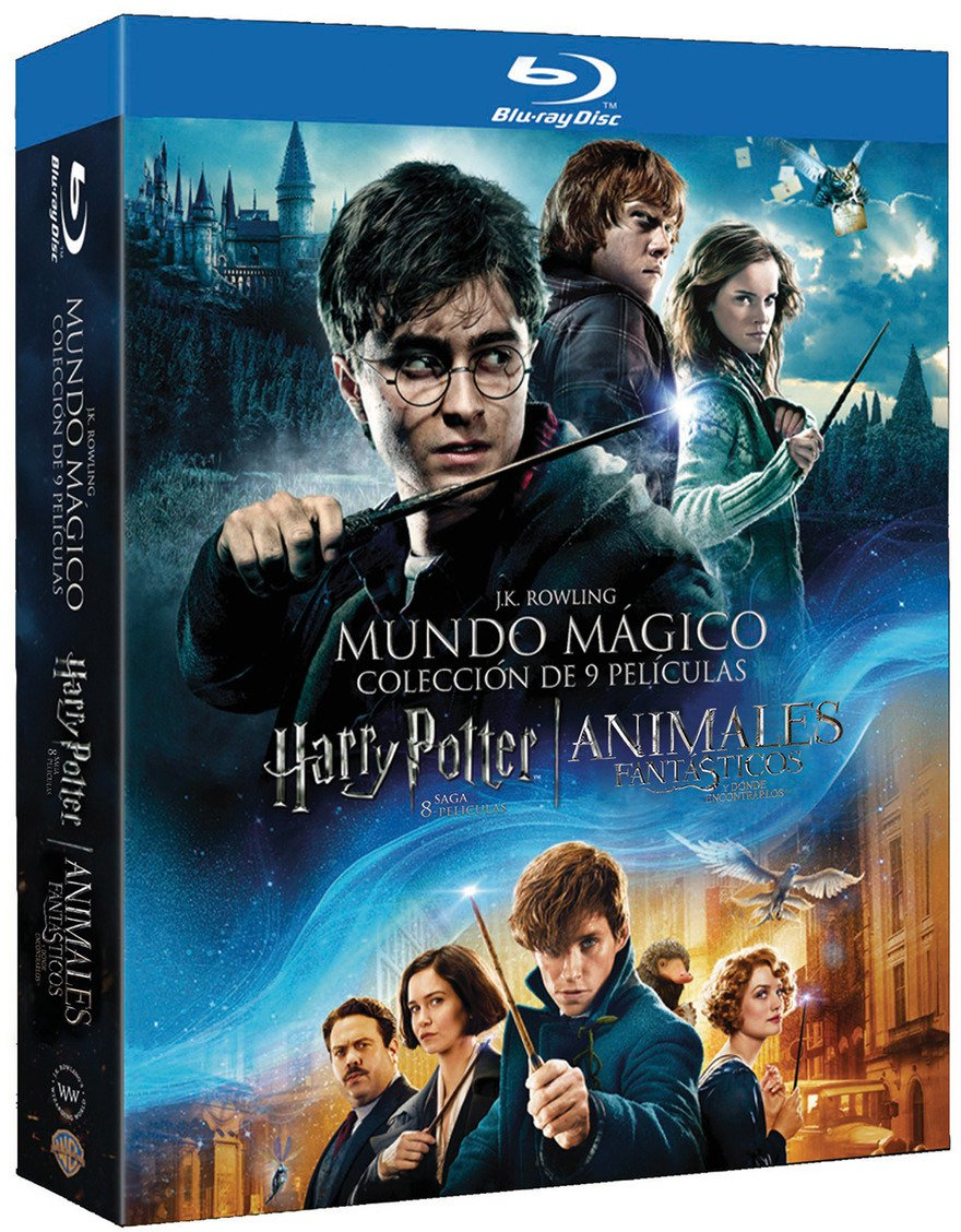 Pack Harry Potter 1-8 + Animales Fantásticos Blu-Ray Blu-ray ...