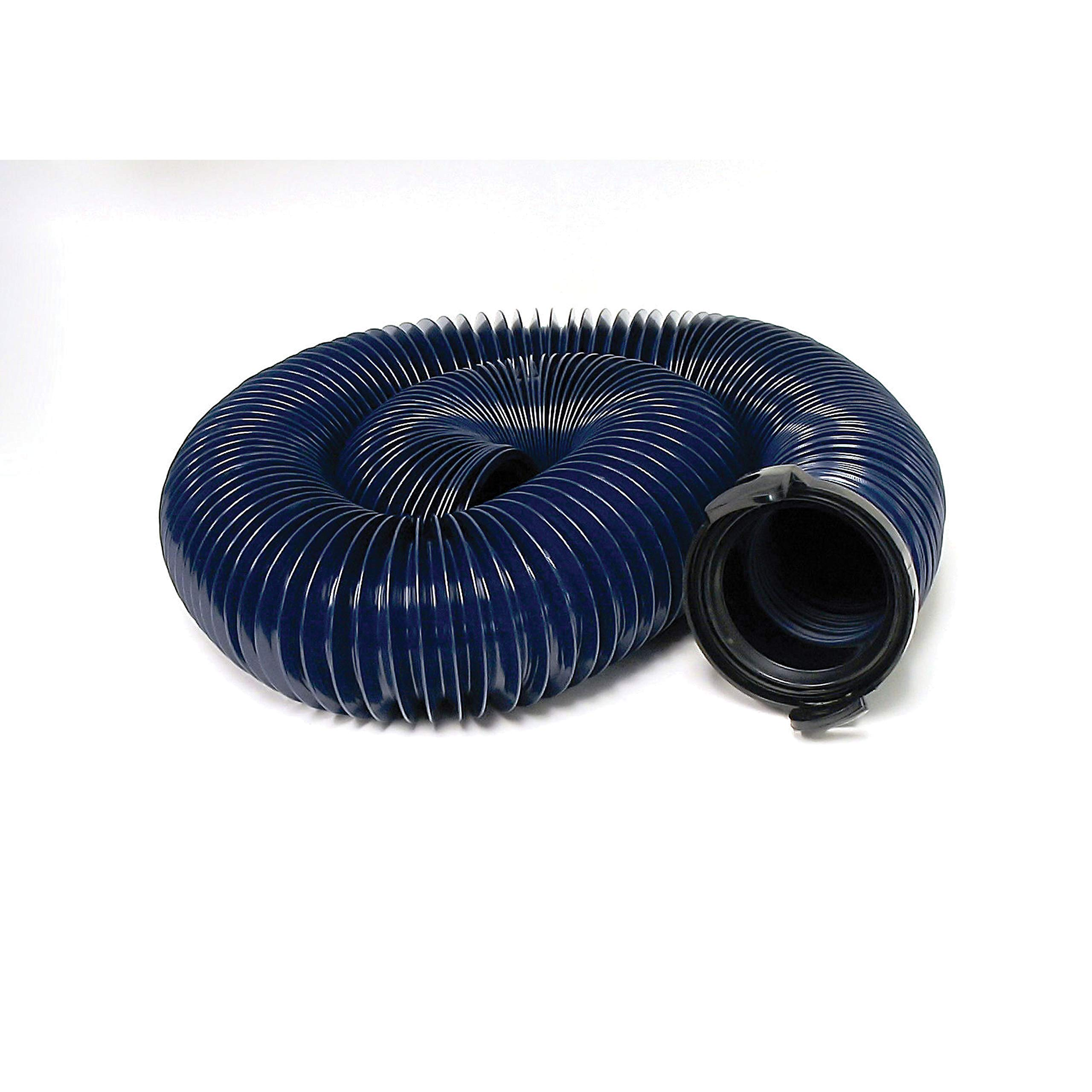 Valterra D04-0121 20' Blue Standard Bulk Quick Drain with Straight Hose Adapter by Valterra