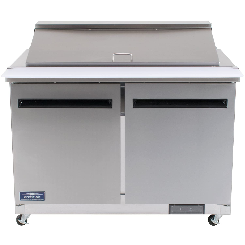 115v Arctic Air AMT48R 48.25-Inch 2-Door Mega Top Refrigerated Sandwich//Salad Prep Table