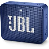 JBL GO2 Portable Bluetooth Speaker with Rechargeable Battery, Waterproof, Built-in Speakerphone, Blue