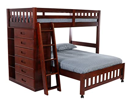 Amazon Com Discovery World Furniture Twin Over Full Loft Bed