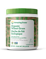 Amazing Grass Organic Wheat Grass Powder, 30 Servings, 8.5-Ounce Container, .85-Inch