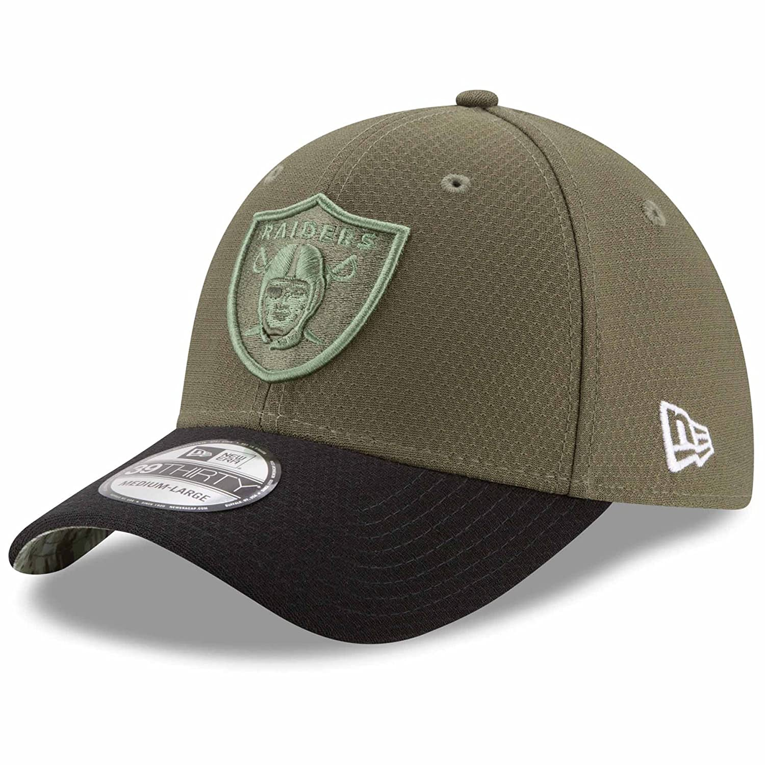 best sneakers fdbb8 ded50 Amazon.com   New Era Oakland Raiders NFL 39THIRTY 2017 Sideline Salute to  Service Hat   Sports   Outdoors