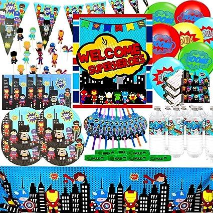 Amazon.com: Merchant Medley Superhero suministros de fiesta ...