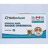 Medical Mask ASTM F2100 Level 2 - Surgical Mask - Procedure mask Level 2 (50 pcs) 3 ply ASTM Level 2 by MédicoSanté