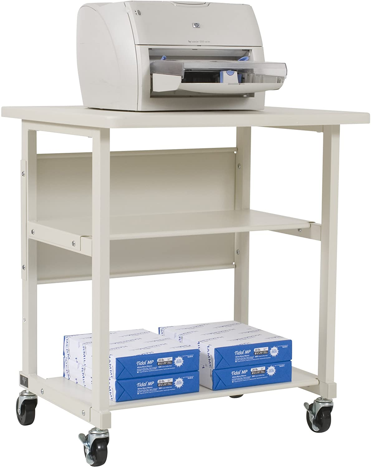 Amazon.com: BALT 22601 Heavy-Duty Mobile Printer Stand w/3 Shelves ...