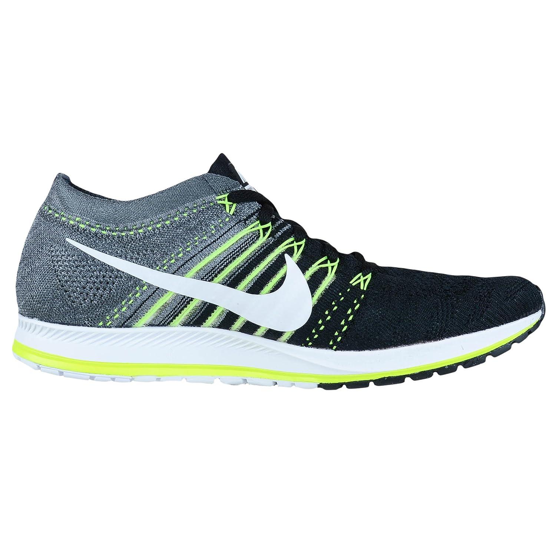 NIKE Unisex Flyknit Racer Running Shoe B01IO5VNRG 7 D(M) US|Black/White-dark Grey-volt