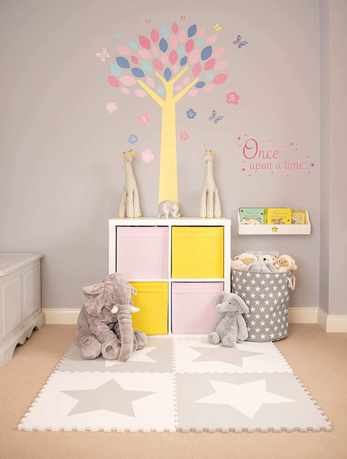 4 Large Interlocking Foam Baby Play Mat Star Tiles - Play Mats. Each Tile 60 x 60cms. Total 1.2m2. For the Love of Leisure