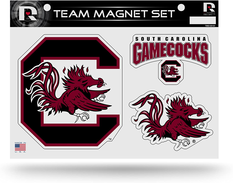 NCAA Rico Industries Die Cut Team Magnet Set Sheet South Carolina Fighting Gamecocks