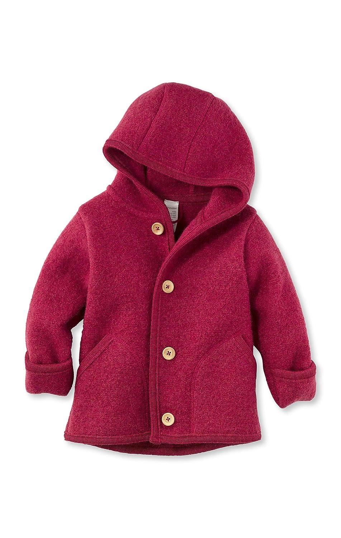 hessnatur Baby M/ädchen und Jungen Unisex Wollfleece Jacke aus Reiner Bio-Merinowolle