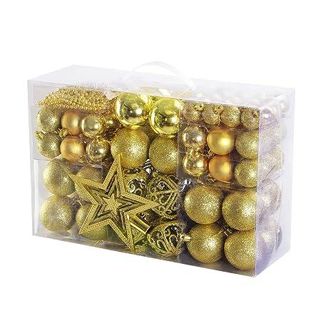 Christbaumkugeln At.Yorbay Weihnachtskugeln Christbaumkugeln Set Inklusive Perlenkette