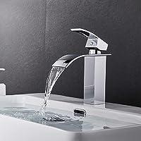 Torneira Cascata Banheiro Misturador Monocomando Luxo Baixa