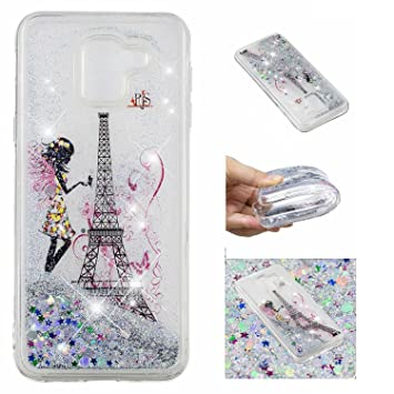 new arrival 5f942 b11f4 LuckyW Samsung J6 2018 Liquid Case, Glitter Bling: Amazon.co.uk ...