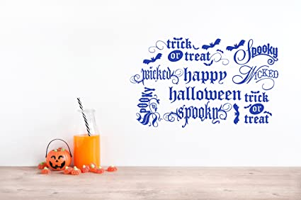 Superb 38u0026quot;x24u0026quot; Halloween Themed Words Happy Halloween Wicked Trick Or  Treat Spooky Bats DIY