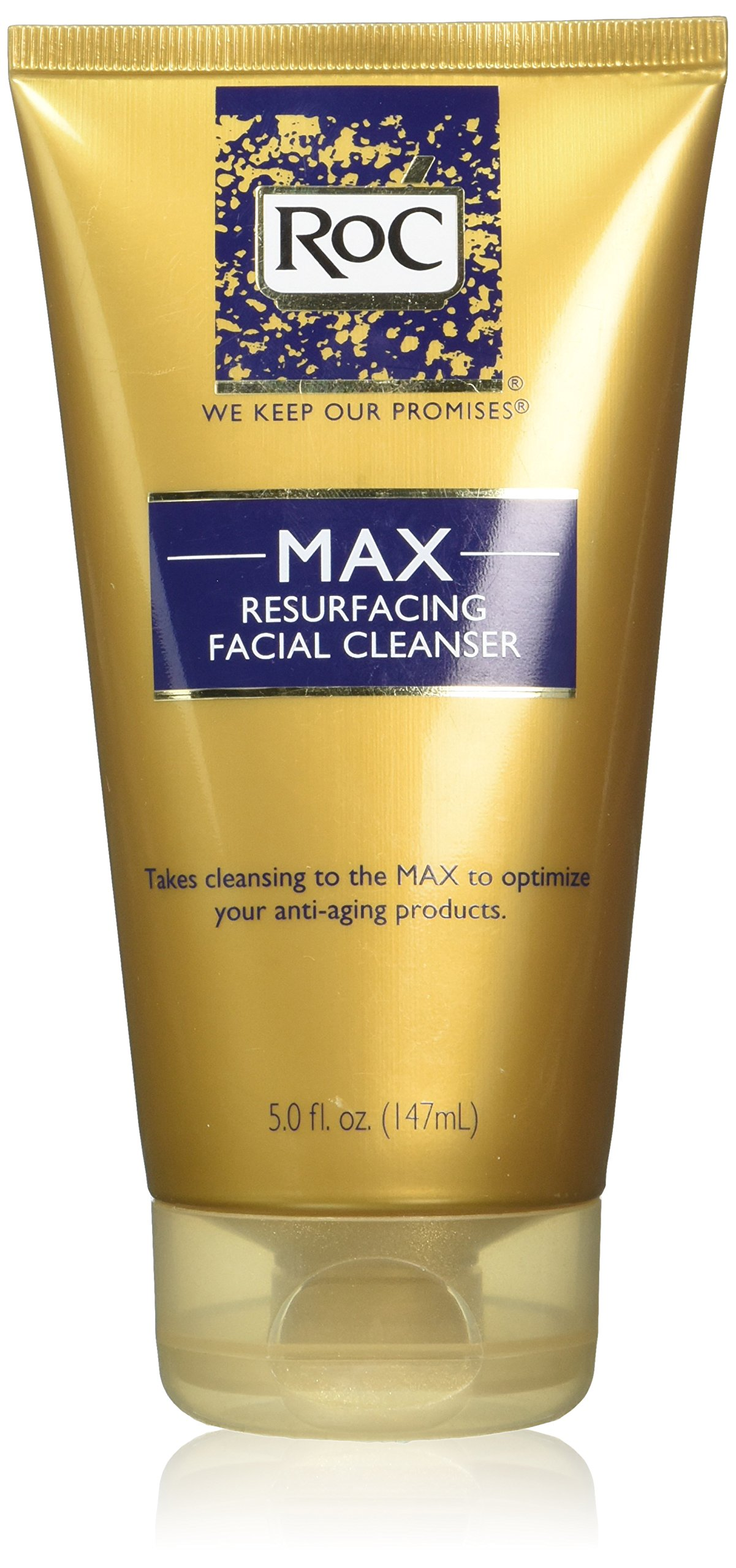 Roc MAX Resurfacing Facial Cleanser - Net Wt. 5 FL OZ (147 mL) - Pack of 2